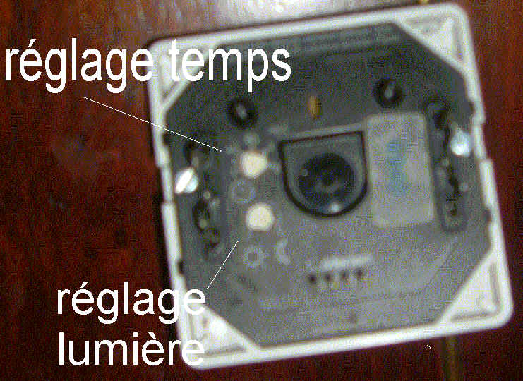 Tout savoir en installation lectrique - Reglage detecteur de mouvement ...