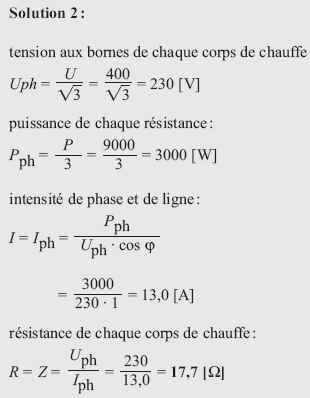 Calcul de l intensité en triphasé